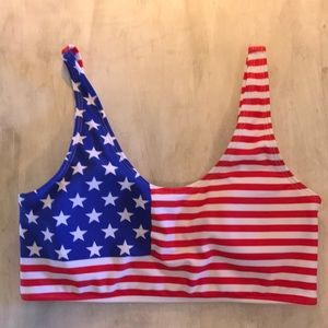 Sporty Stars and Stripes Swimsuit Top